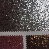 Big Shiny Sequines Glitter PU Leather for Shoes Decaration Hw-1421