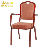 Restaurant Furniture Stacking Hotel Banquet Chair with Armrest