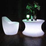 Modern Plastic Furniture RGB Color Changing LED Dining Table Set for Sale