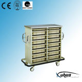Steel Painted Hospital Medical Drug Delivery Trolley (P-10)