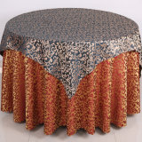 Polyester Fabric Jacquard Hotel Linen Hotel Table Cover