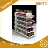 Pop up Metal Iron Display Garment Glass Supermarket Storage Rack