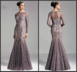 Long Sleeves Lace Mother Formal Prom Gown Mermaid Evening Dresses Z6002