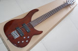 Hanhai Music/5 Strings Dark Red Electric Bass (Mifce H bass)