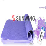 Purple TPE Foam Yoga Mat, New Pattern Yoga Mat