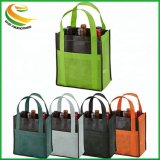 Cheaper Price Custom Laminated Wine Carry Bag Non Woven Wine Bottle Bag