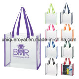 """Clear PVC Tote Bag with 22"""" Handles with Spot Clean/Air Dry"""