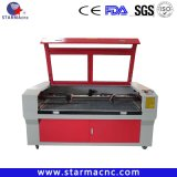 High Power 100W 120W Textile PU Leather Double Head Laser Cutting Machine Price