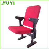 Jy-308 New Desigin Chair with Write Pad China Auditorium Wooden