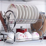 2 Tier Stainless Steel Dish Rack Cup Drying Rack