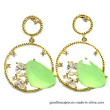New Jewerlry Sliver Plated Fashion with Big Stone Earrings Retro Gift Wholesale (E6763)