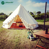 Waterproof Beige Color Unique Bell Tent Outdoor Family Camping Tent