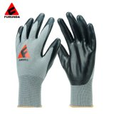 CE En388 Nitrile Coated Safety Work Gloves for Gardening Household