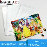 A4 White Blank Sublimation Paper Puzzle for Heat Transfer (19.8*29cm)