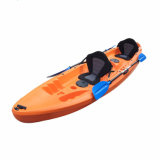 3 Person Plastic Sit on Top 2+1 Seats Family Fishing Boat/ Kayak Wholesale