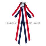 Fashion Women Striped Diamond Bowknot for Necklace Skirt Decoration Graceful Ornament Bow Tie (ET01)
