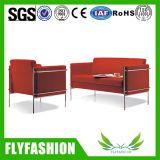 Black Leather Office Furniture Sofa Set (OF-10)
