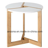 Round Modern Living Room Tabletop / Bamboo Coffee End Table