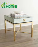 Stainless Steel with Glass Top Side Table, Small Coffee Table