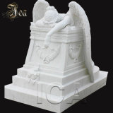 Detail Carving Headstone White Angel Lady Tombstone