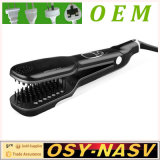 2016 New Arrive Electric Ceramic Coating Steam Hair Straightener Brush