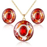 New Item Beautiful Resin Fashion Jewellery Earring Necklace Jewelry Set