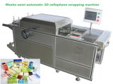 Semi Automatic High Efficiency Perfume Carton Box Cellophane Overwrapping Packaging Machine