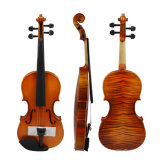 1/4-4/4 Violin Basswood Acoustic Violin Fiddle + Case + Bow + Rosin