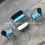 Steel 4PCS Mohairsder Rattan Furniture Set by Table+Chairs