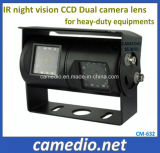 IP69k Waterproof Night Vision Dual Camera Lens Rear View Camera for Heay-Duty Equipments