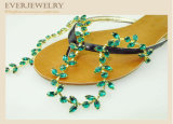 New Style 2017 Rhinestone Cup Chain Leaf for Slippers, Shoes