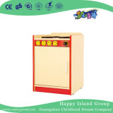 Kindergarten Kids Role Play Wood Refrigerator Storage Cabinet (HG-4406)