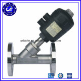 Stainless Steel SS316 SS304 Flange End Pneumatic Angle Seat Valve
