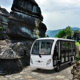 48V Enclosed 14 Passengers Tour Car Electric Sightseeing Shuttle Bus