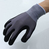 Great Price Safety Polyester Knitted Liner and Nitrile Coating Work Gloves for Preventing Grease, Oil and Chemicals