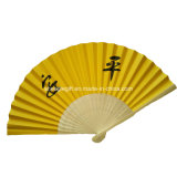 Promotional Bamboo Paper Folding Hand Held Fans Customized