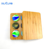 Raw Wood Cigarette Smoking Container Kit Tobacco/Weed/Dry Herb Silicone Jar Smoking Accessories