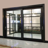Feelingtop Interior or Exterior Aluminum Double Toughened Glazing Sliding Door
