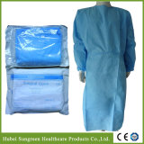 Disposable SMS Blue Surgical Gown, Medical Gown Wit Eo Sterilization