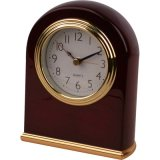 Gold Chrome Wooden Alarm Clock