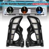Pair LED Daytime Running Light Lamp DRL Yellow White Blue Turn Signal Lamp Fog Light Daylight for Toyota Highlander 2017 2018