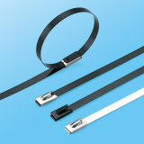 Polyester Covered Stainless Steel Cable Belt Self Lock