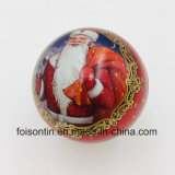 Manufacturer Cheap Round 8cm Decorative Metal Christmas Tin Ball