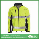 High Visibility Mens 100% Polyester Safety Reflective Jacket