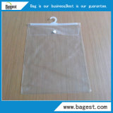 Textile PVC Bag with Hook Waterproof Plastic Bag for Garment