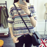 New Design Colorful Big Size Christmas Knitting Blouse Sweater