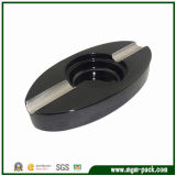 China Black Oval Wooden Cigarette Ashtrays for Gift