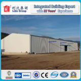 Wide Span Sandwich Panel and Corrugated Steel Structure Prefabricated Warehouse