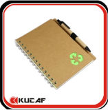 Kraft Cover Notebook with Pen Made in China
