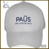 Customized 6 Panel Fashion White Tweed Baseball Cap Wholesale